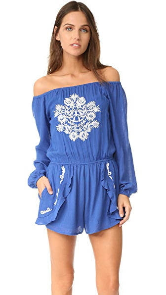 Lovers + Friends Carmella Romper - Periwinkle