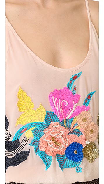 Loyd/Ford Embroidered Sleeveless Top