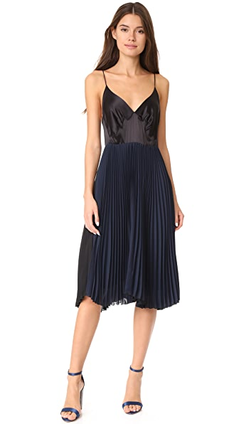 Loyd/Ford Sleeveless Pleated Dress - Black