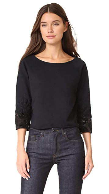 Loyd/Ford Crop Beaded Cuff Sweater