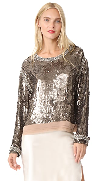 Loyd/Ford Sequin Sweater - Bronze/Gold