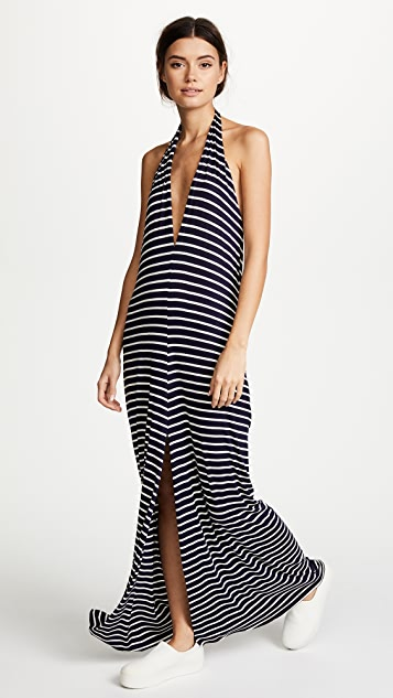 Loyd/Ford Belted Drape Maxi Dress