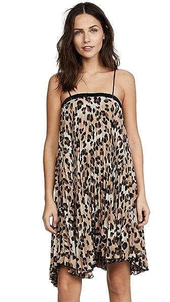 Loyd/Ford Pleat Leopard Dress In Leopard
