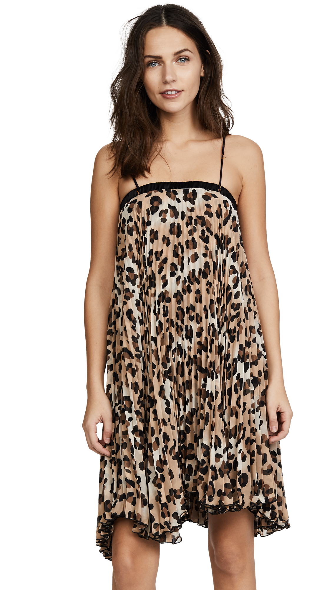 Loyd/Ford Pleat Leopard Dress