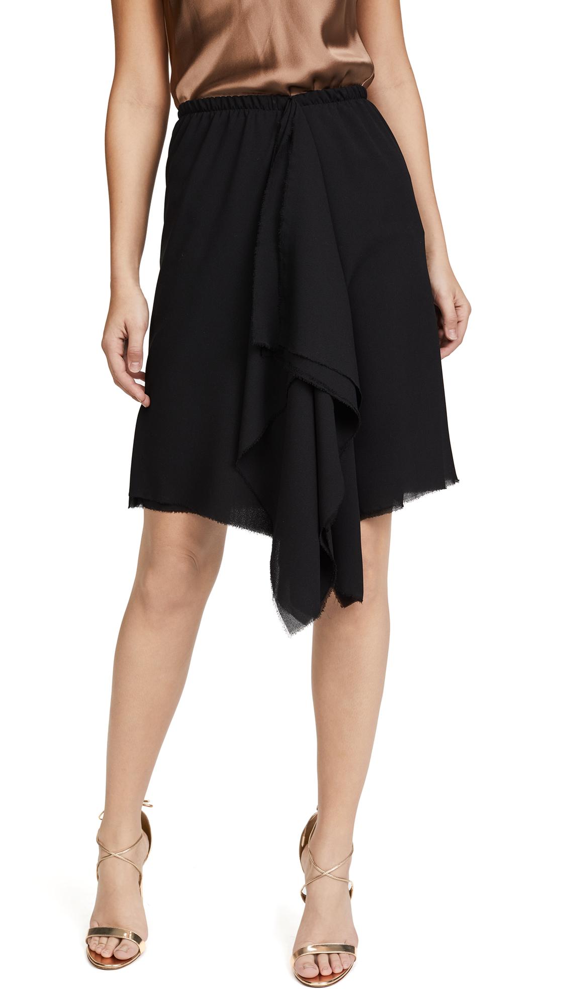 Loyd/Ford Black Drape Skirt - Black