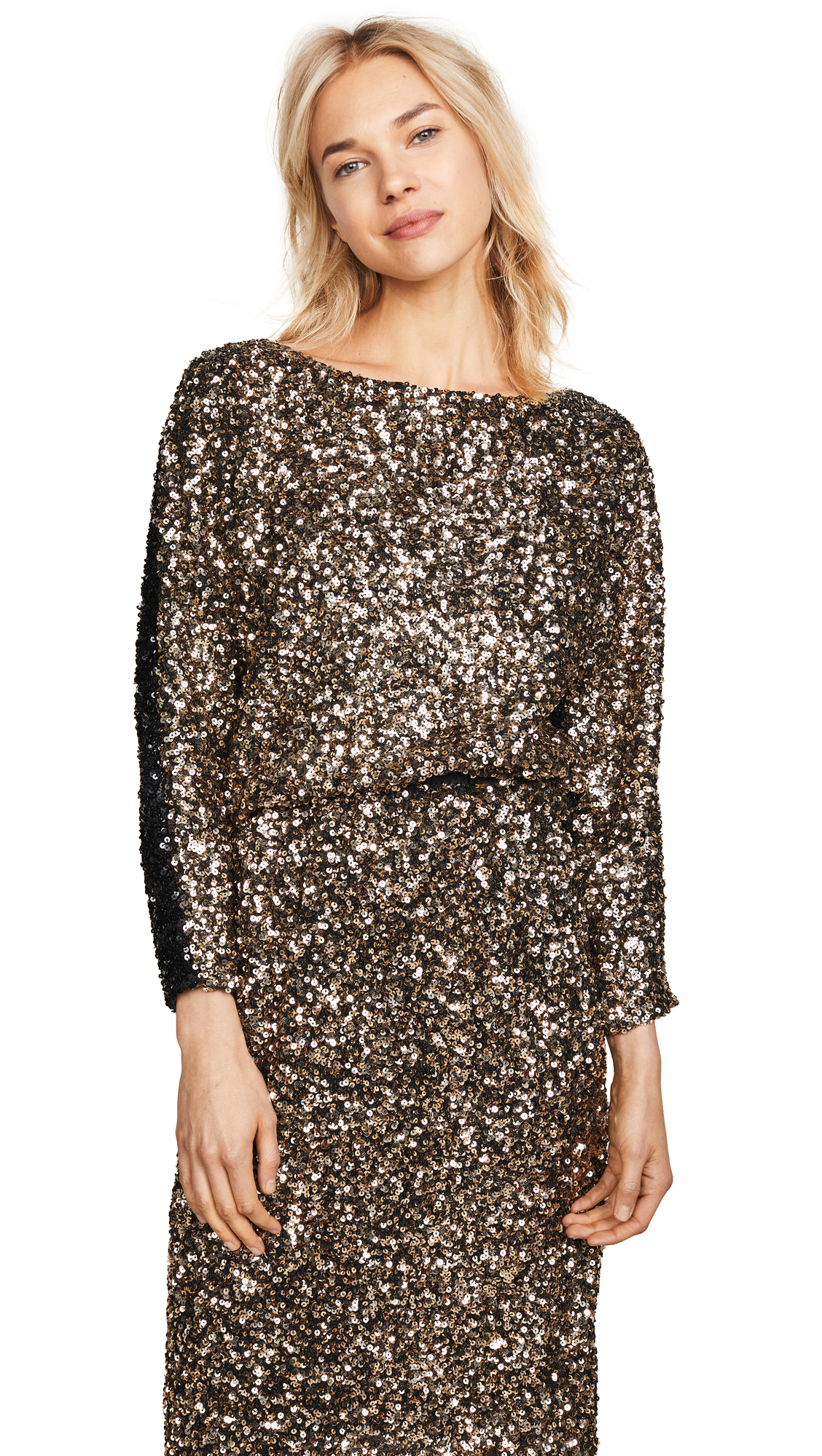 LOYD/FORD Sequin Sweater in Black/Gold