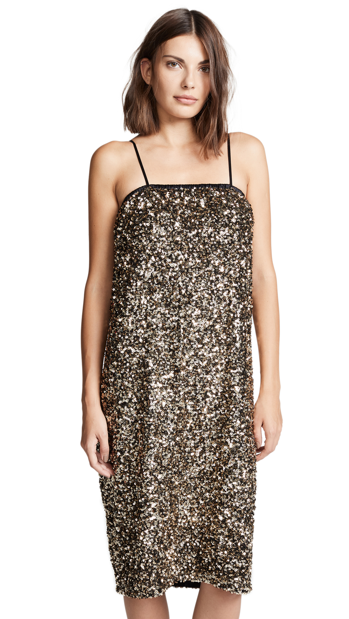 LOYD/FORD Sequin Cami Dress in Gold