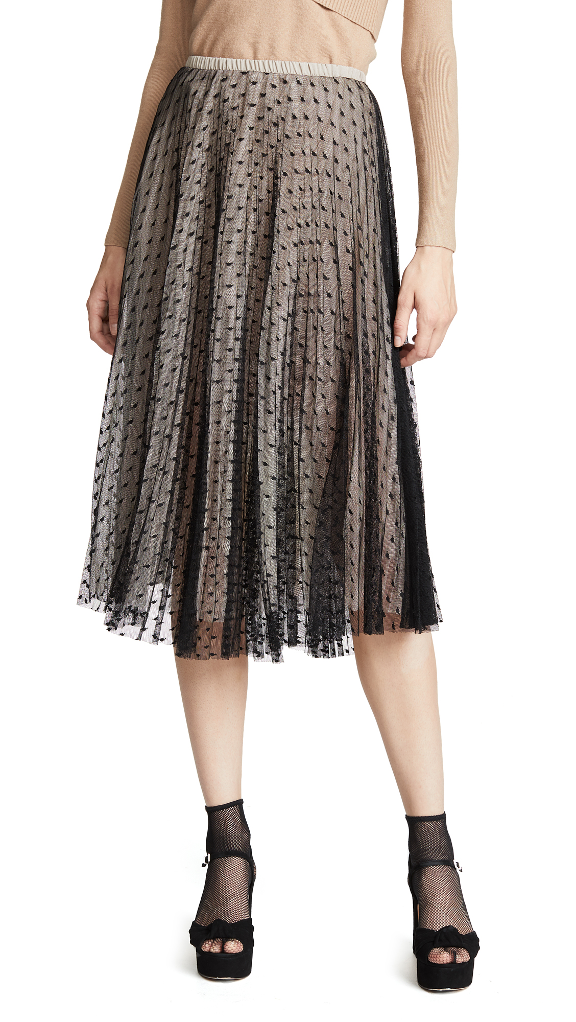 LOYD/FORD Multi Layer Tulle Skirt in Black/Nude