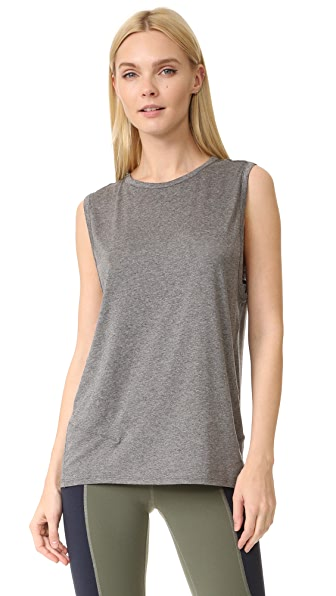 LIVE THE PROCESS Linear Muscle Tee - Grey