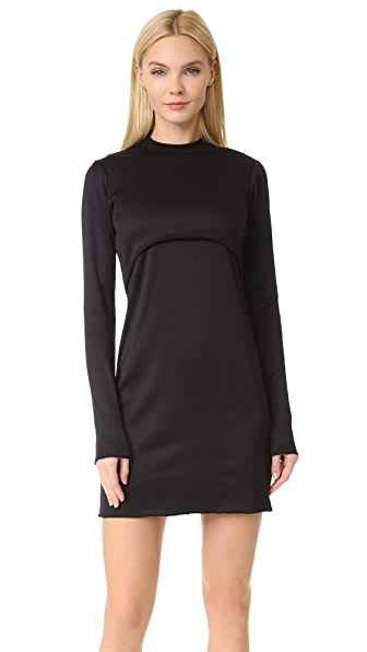 LIVE THE PROCESS Circular Overlay Dress with Built In Bra - Black