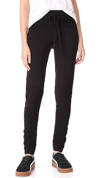 LIVE THE PROCESS Knit Sweatpants - Black