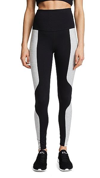 LIVE THE PROCESS Geometric Leggings In Black/Grey