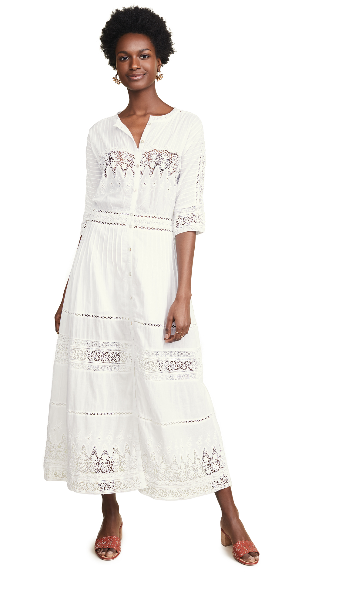 LOVESHACKFANCY Beth Dress - White