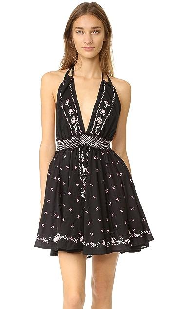 LOVESHACKFANCY String Halter Mini Dress