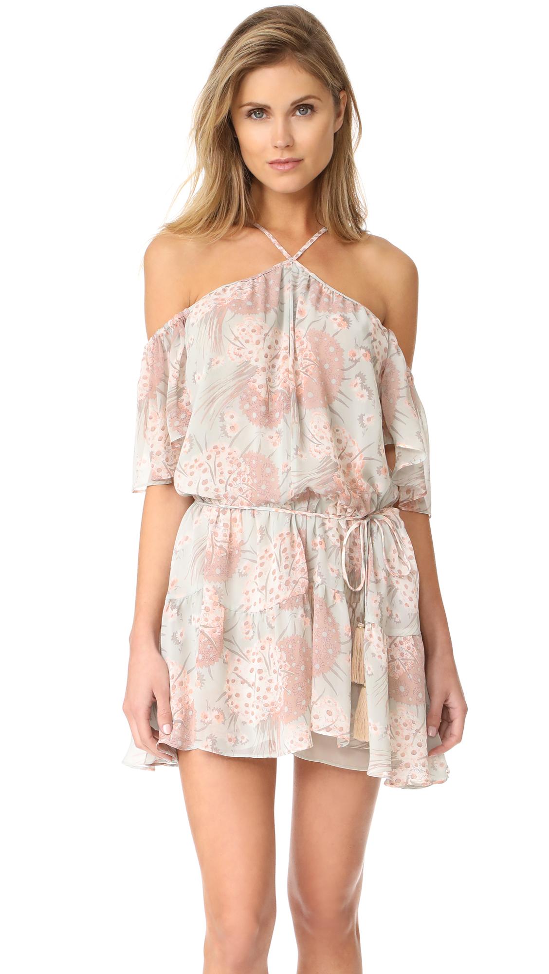 LOVESHACKFANCY Amira Silk Dress - Mint