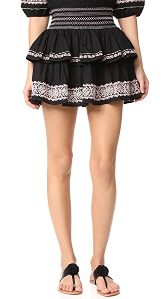 LOVESHACKFANCY Lourdes Skirt - Black