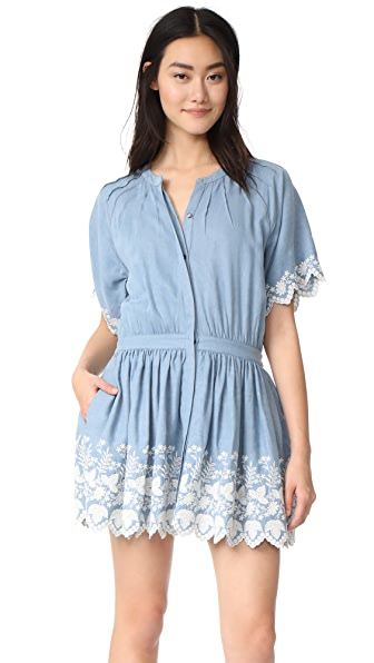 LOVESHACKFANCY Charlie Dress - Light Indigo