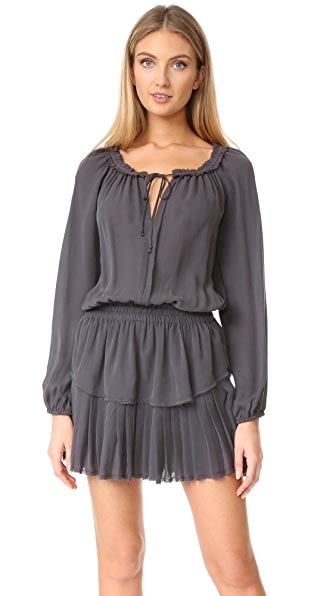LOVESHACKFANCY Popover Dress - Charcoal