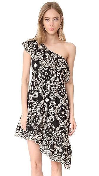 LOVESHACKFANCY Pamela Party Dress In Black