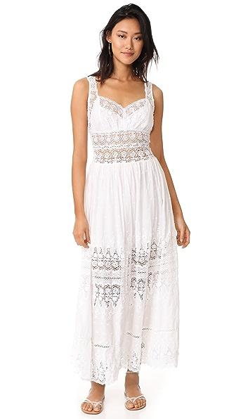 LOVESHACKFANCY Francesca Dress - White