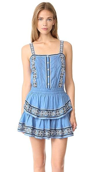 LOVESHACKFANCY Anna Dress In Atlantic Blue