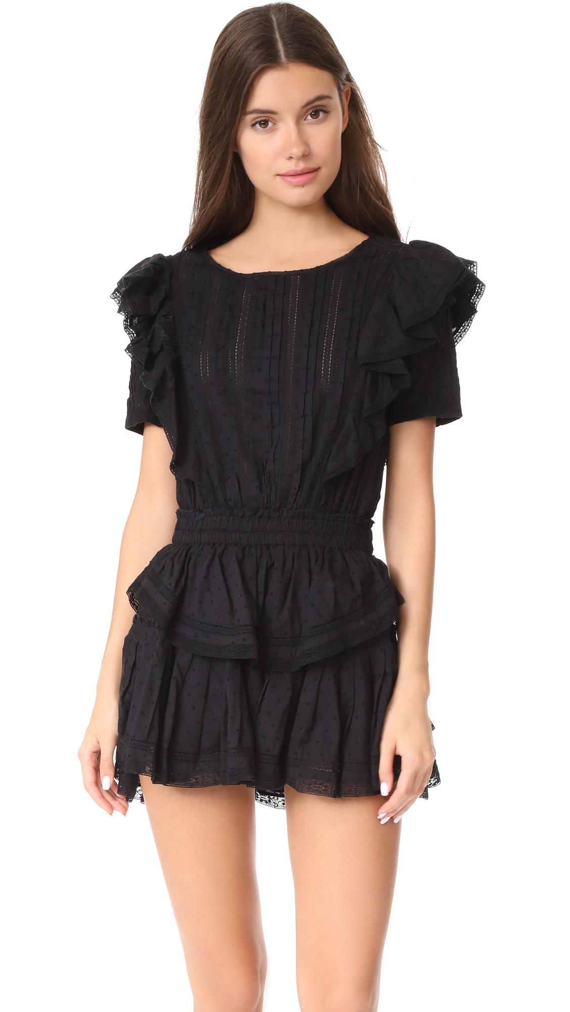 LOVESHACKFANCY Natasha Dress - Black