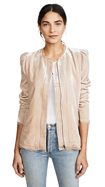 LOVESHACKFANCY Sienna Jacket In Toasted Almond