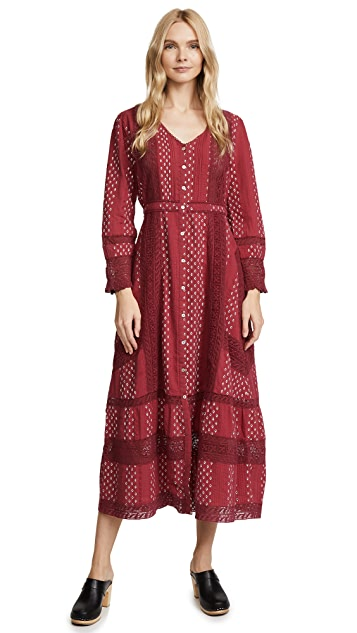 LOVESHACKFANCY Desert Victorian Maxi Dress