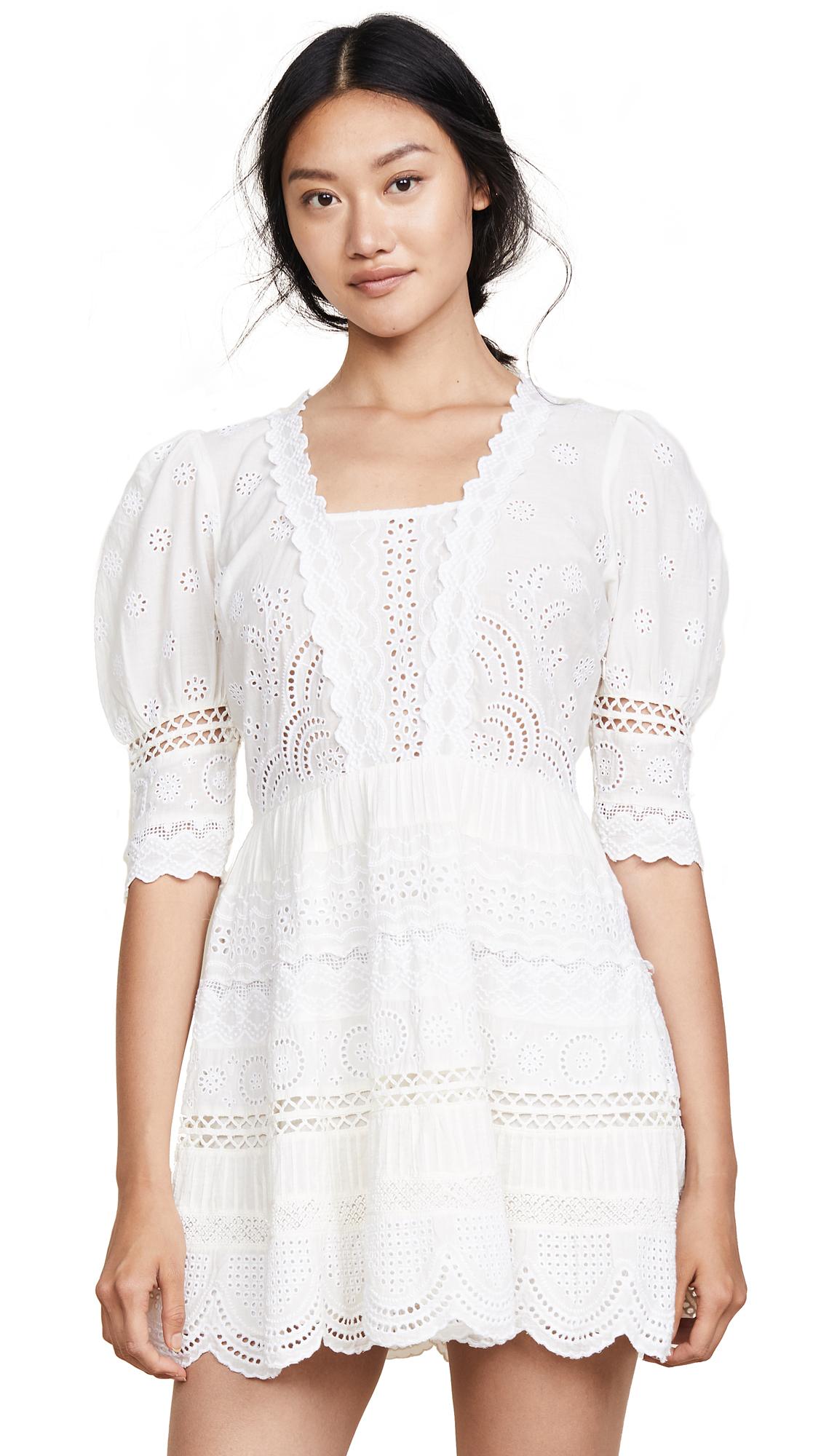 LOVESHACKFANCY Kristen Dress In Ivory