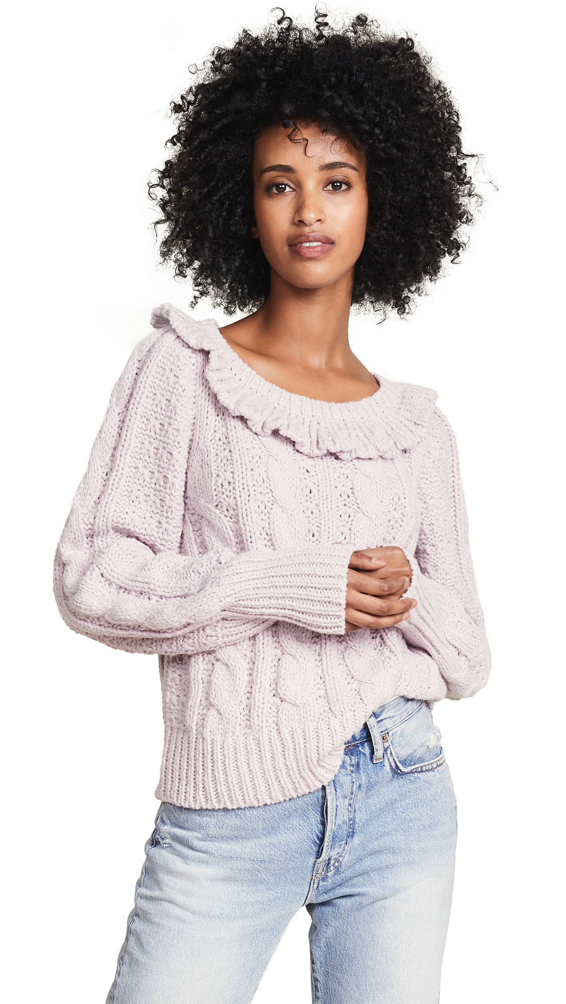 Christina Sweater in Thistle