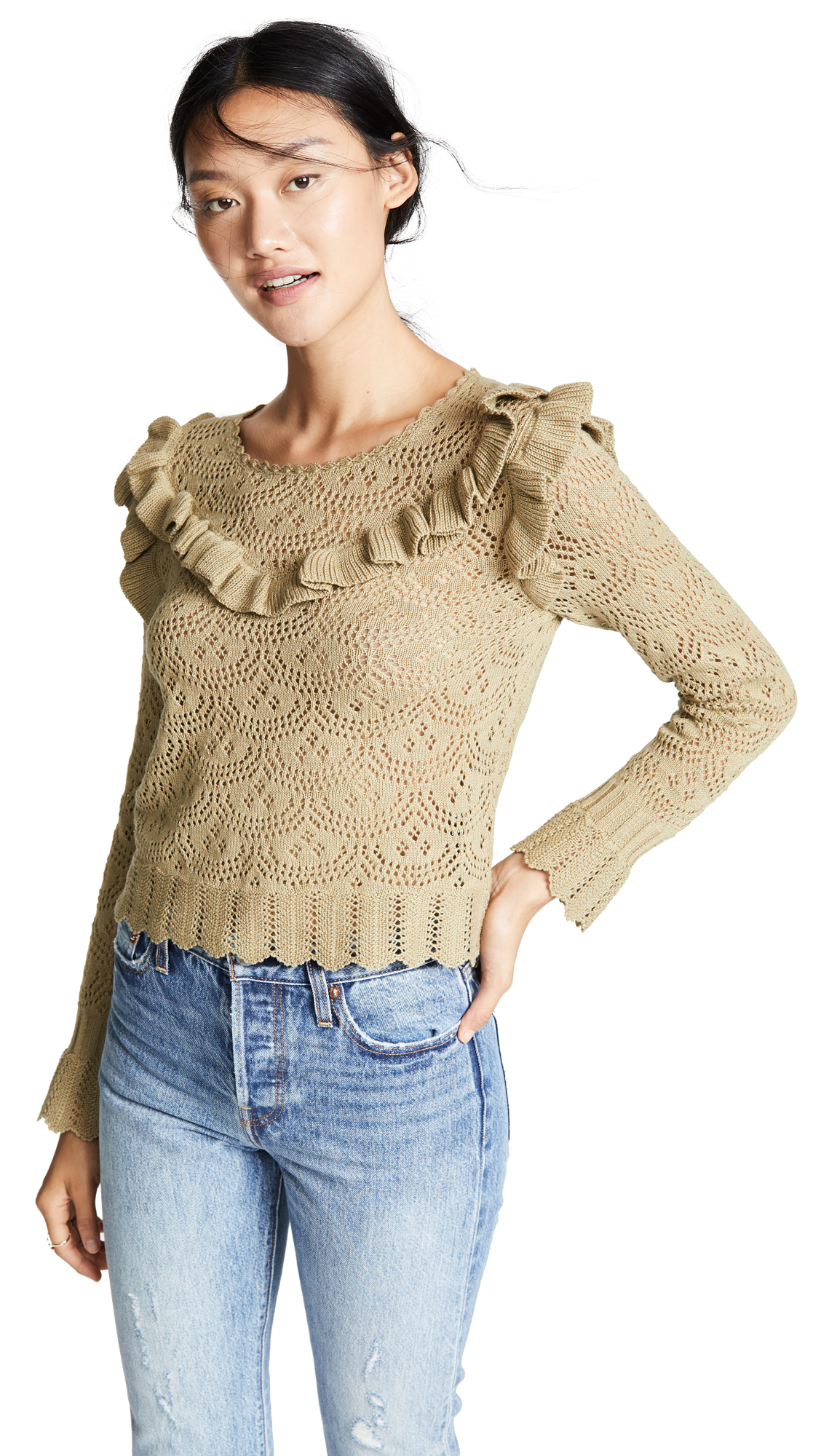 NATALIE RUFFLE SWEATER