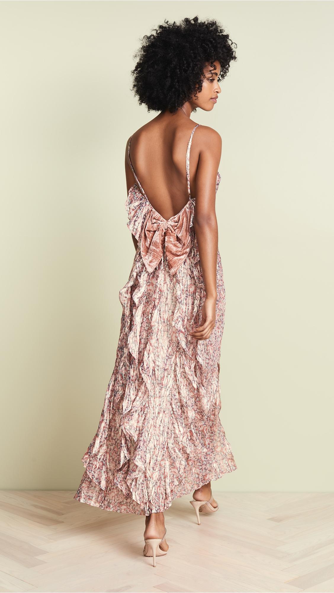 f8fff148272a LOVESHACKFANCY Kate Ruffle Slip Dress | SHOPBOP