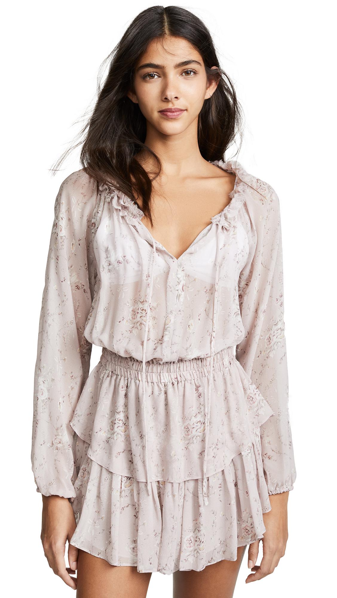 LOVESHACKFANCY Popover Dress - Woodrose