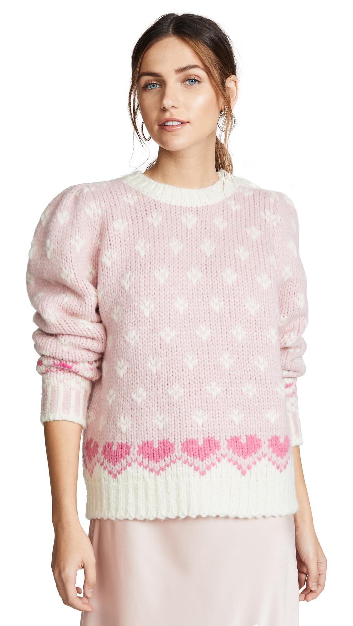 LOVESHACKFANCY Rosie Sweater - Carnation