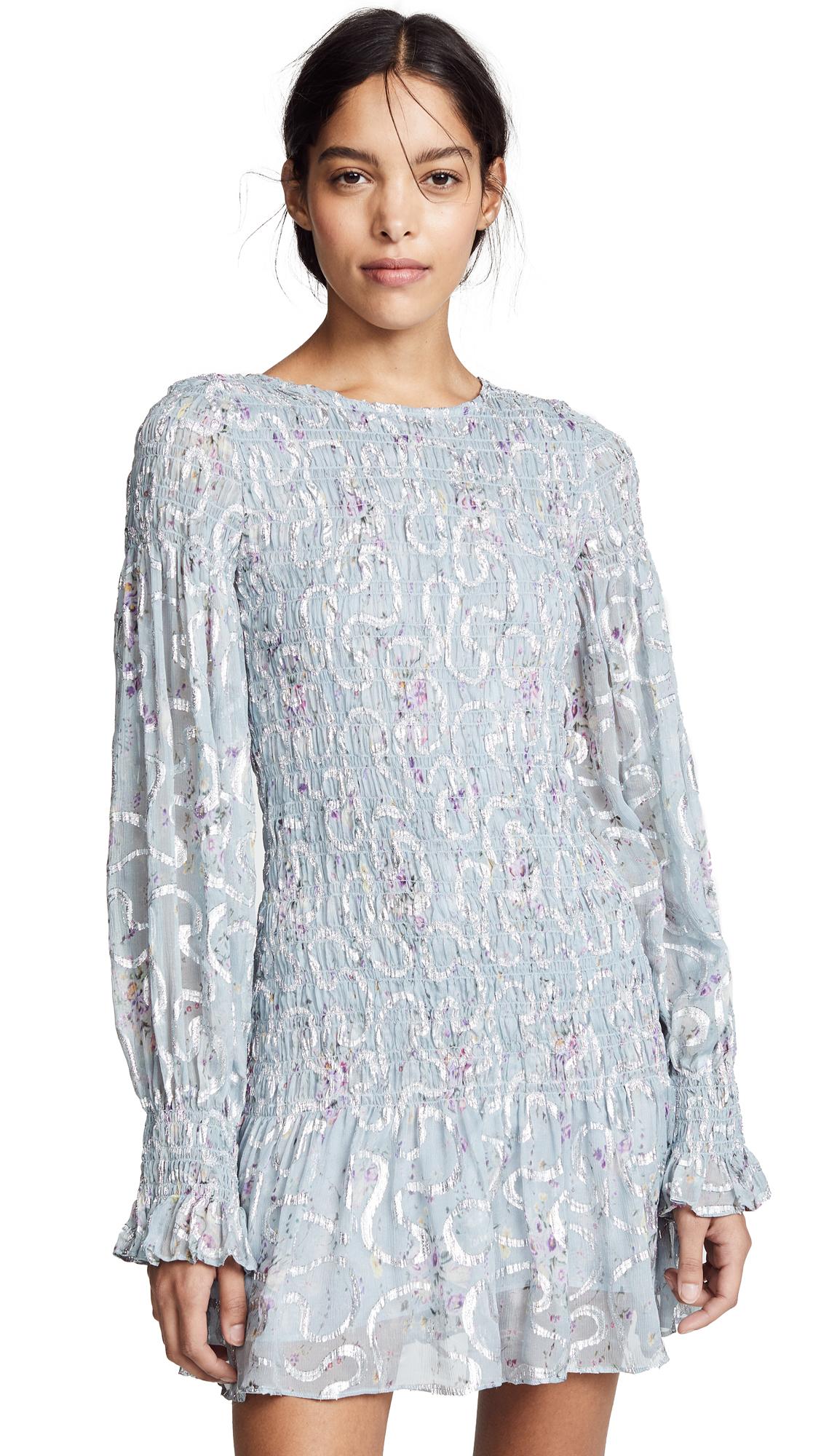 LOVESHACKFANCY Scarlett Mini Dress - Silver Lake