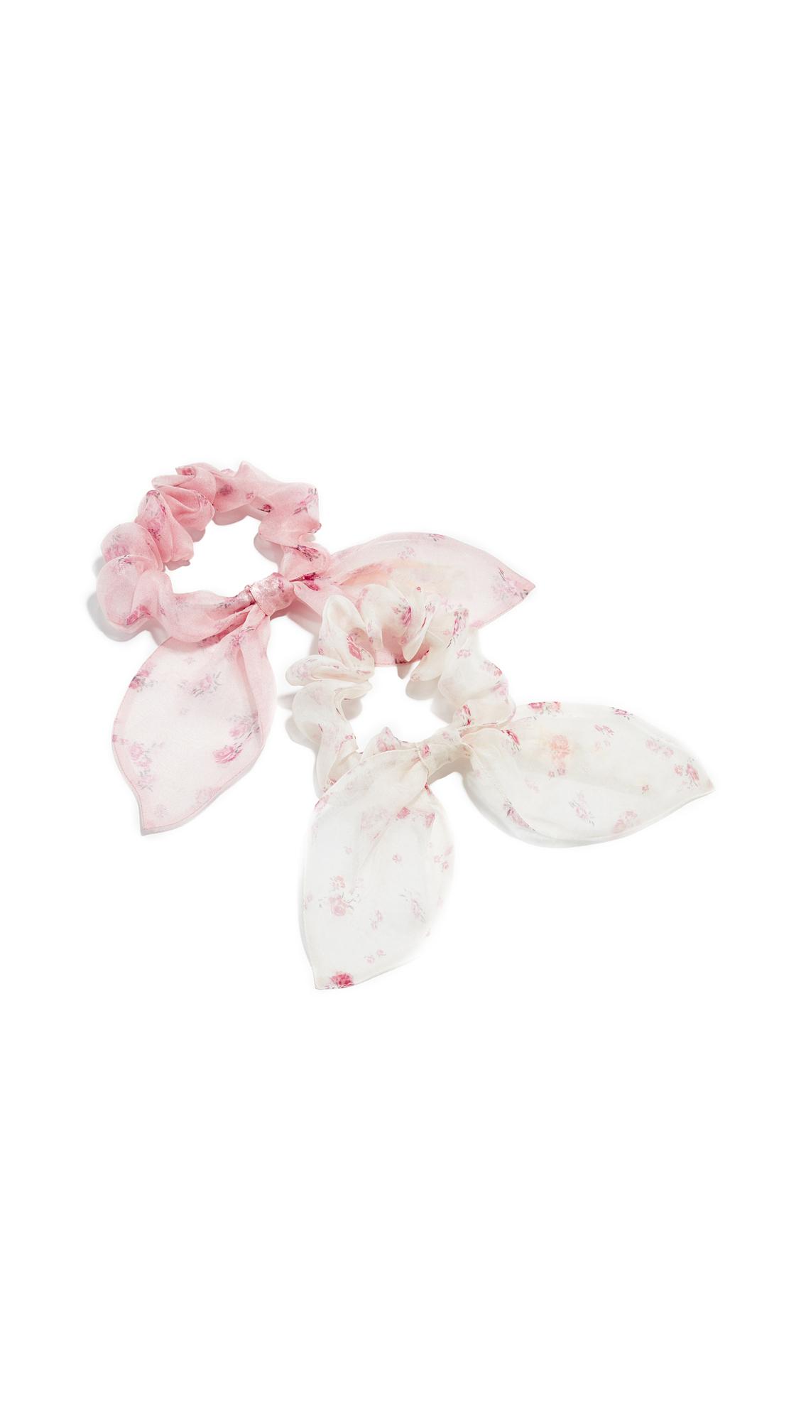LOVESHACKFANCY Penny Scrunchie Set - Whisper/Strawberry Cream