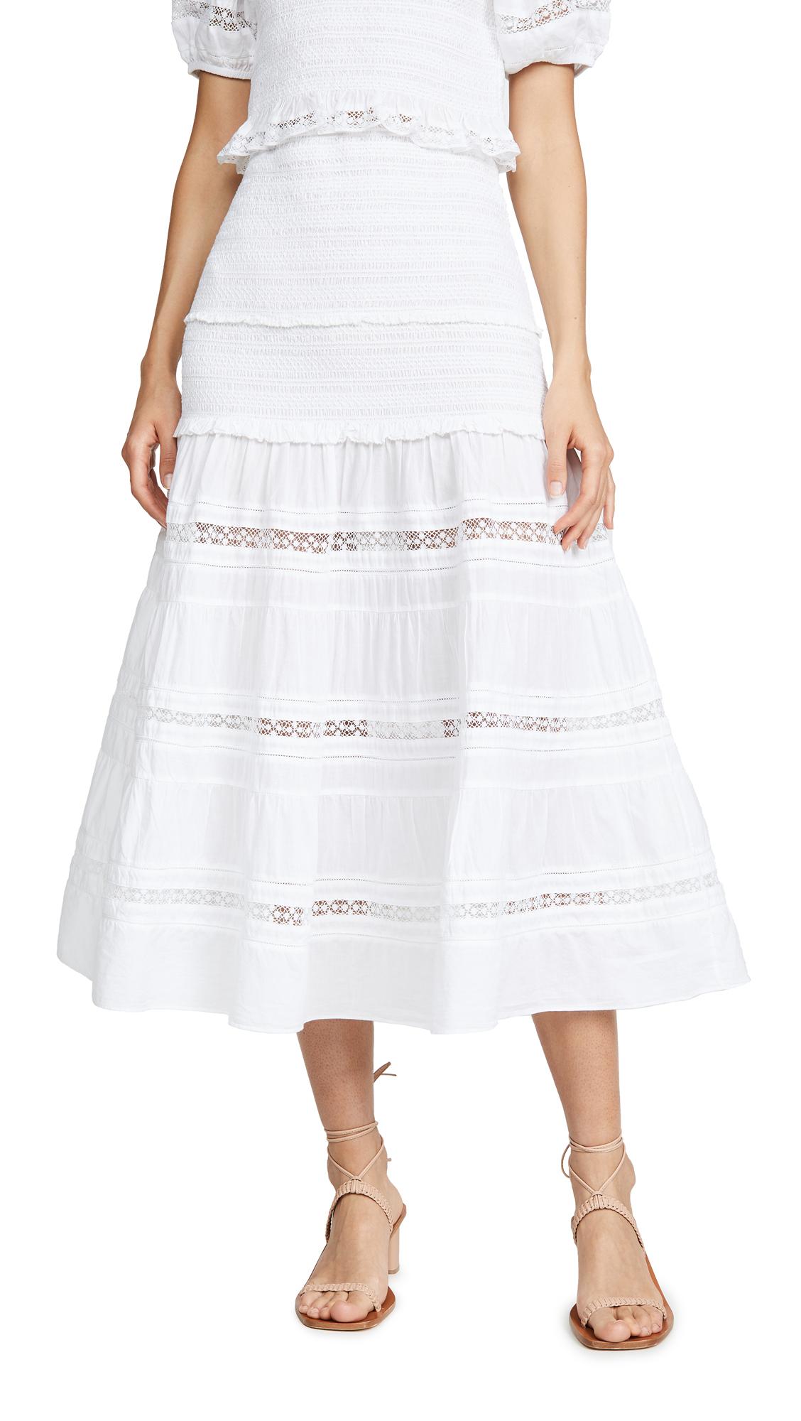 Buy LOVESHACKFANCY online - photo of LOVESHACKFANCY Olive Skirt
