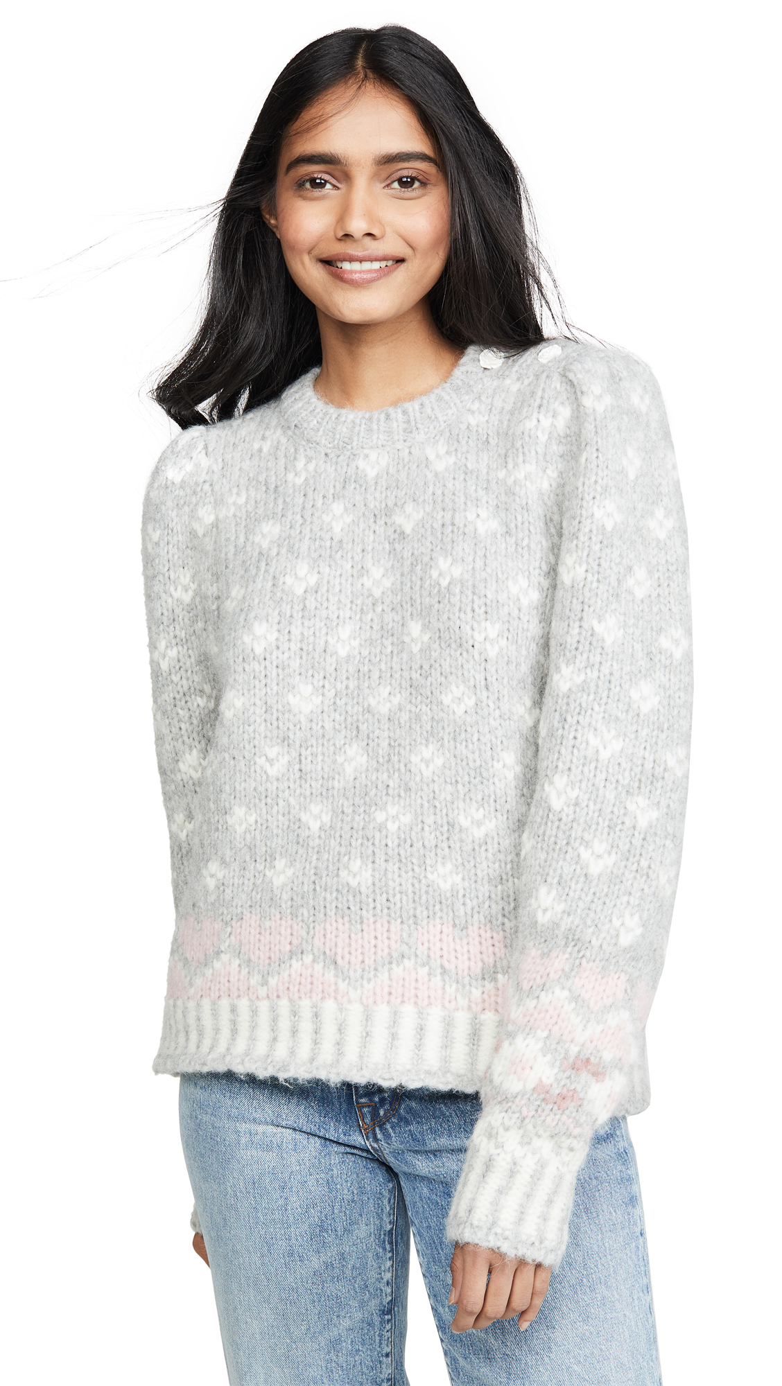 Buy LOVESHACKFANCY online - photo of LOVESHACKFANCY Rosie Alpaca Sweater
