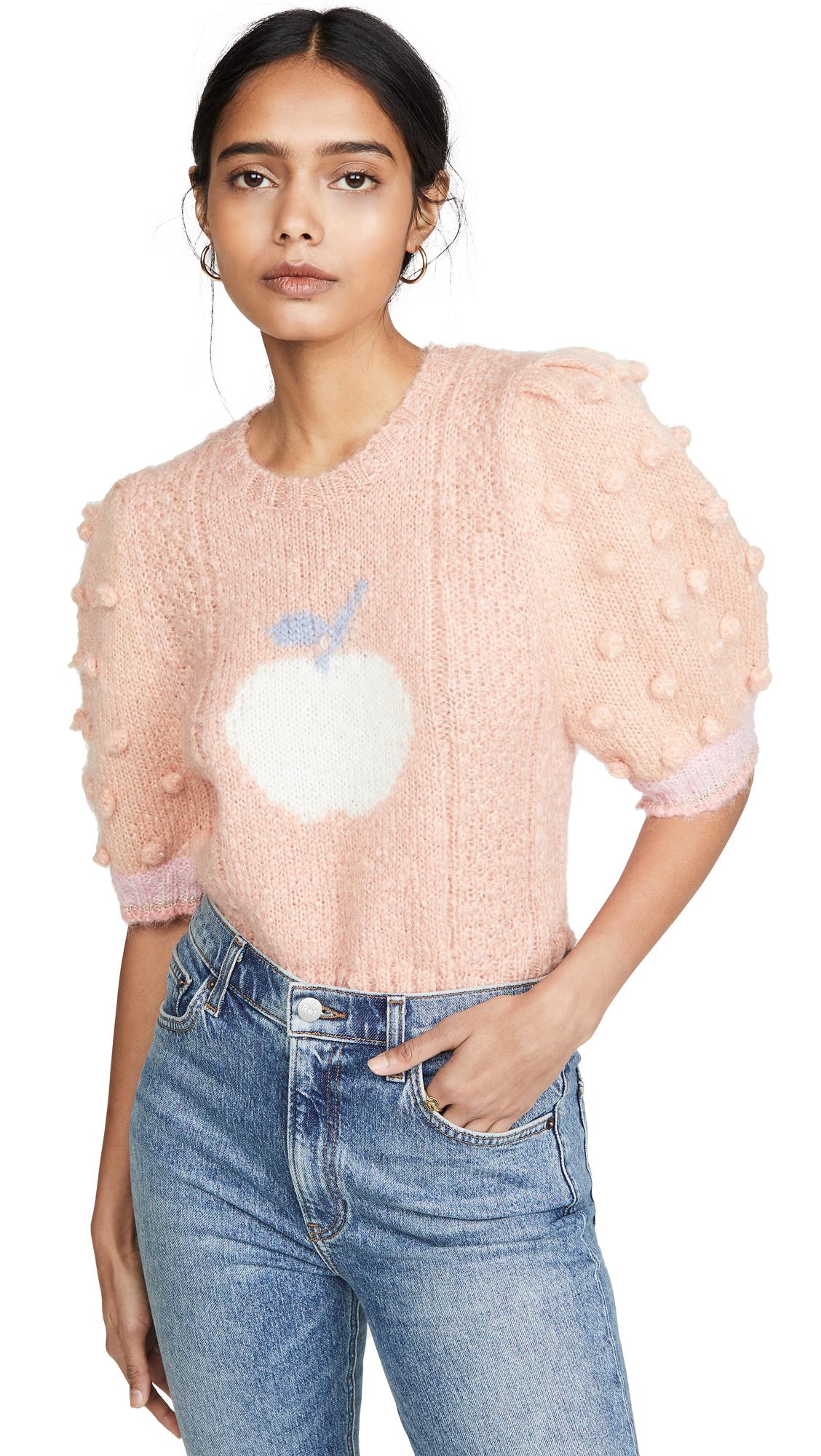 Buy LOVESHACKFANCY online - photo of LOVESHACKFANCY Cyrielle Cropped Mohair Sweater