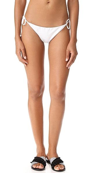 L*Space Lily Bikini Bottoms - White