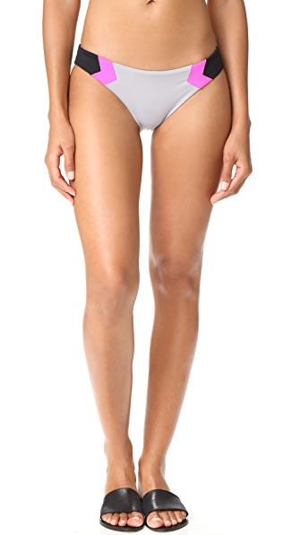L*Space Barracuda Bikini Bottoms - Fog Grey