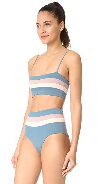 L*Space Reversible Rebel Stripe Bikini Top