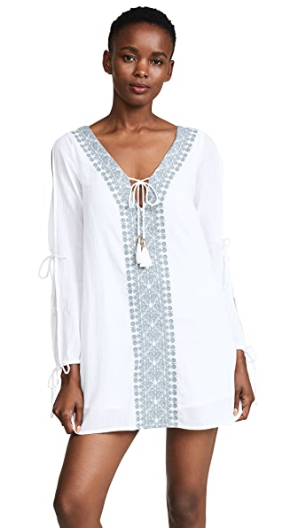 L*Space Gold Coast Tunic In White/Slated Glass