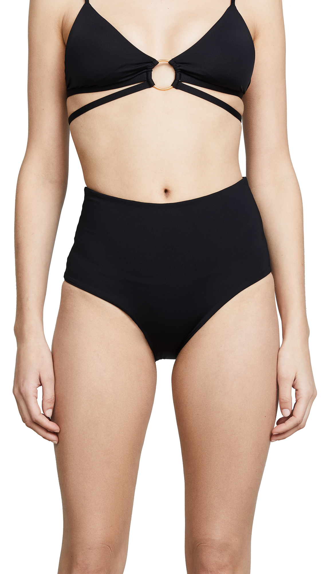 L*Space Portia High Waist Bottoms In Black