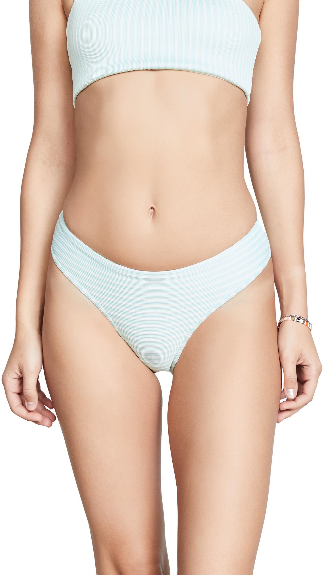 L*Space Ribbed Pierre Bikini Bottoms In Spearmint