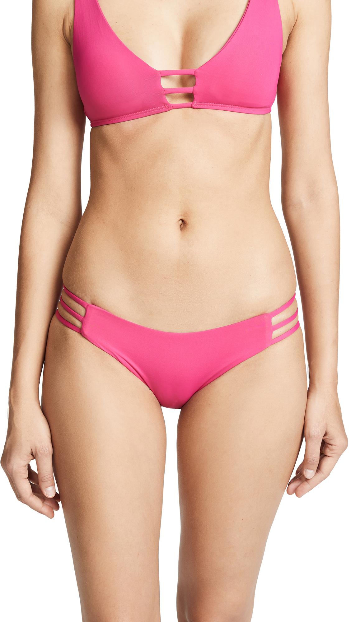 L*Space Kennedy Classic Bikini Bottoms In Magenta