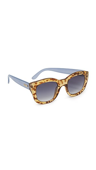 Le Specs Runaway Sunglasses - Leopard Tort Chambray/Smoke at Shopbop