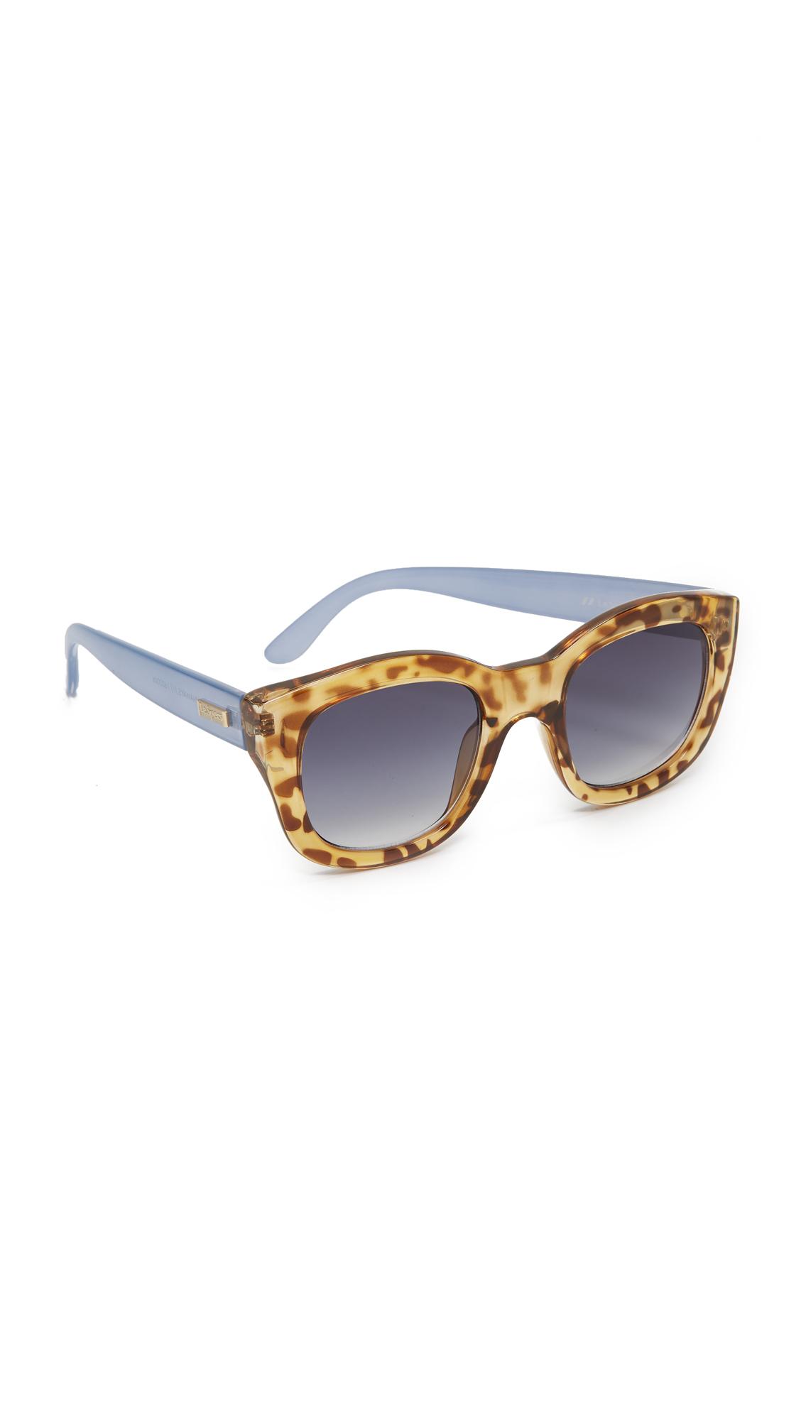 Le Specs Runaway Sunglasses - Leopard Tort Chambray/Smoke at Shopbop