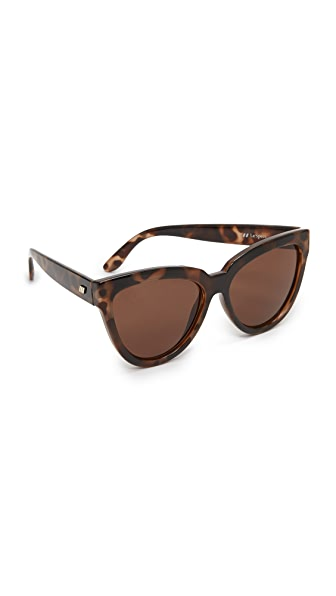 Le Specs Liar Liar Sunglasses In Volcanic Tort/Brown Mono