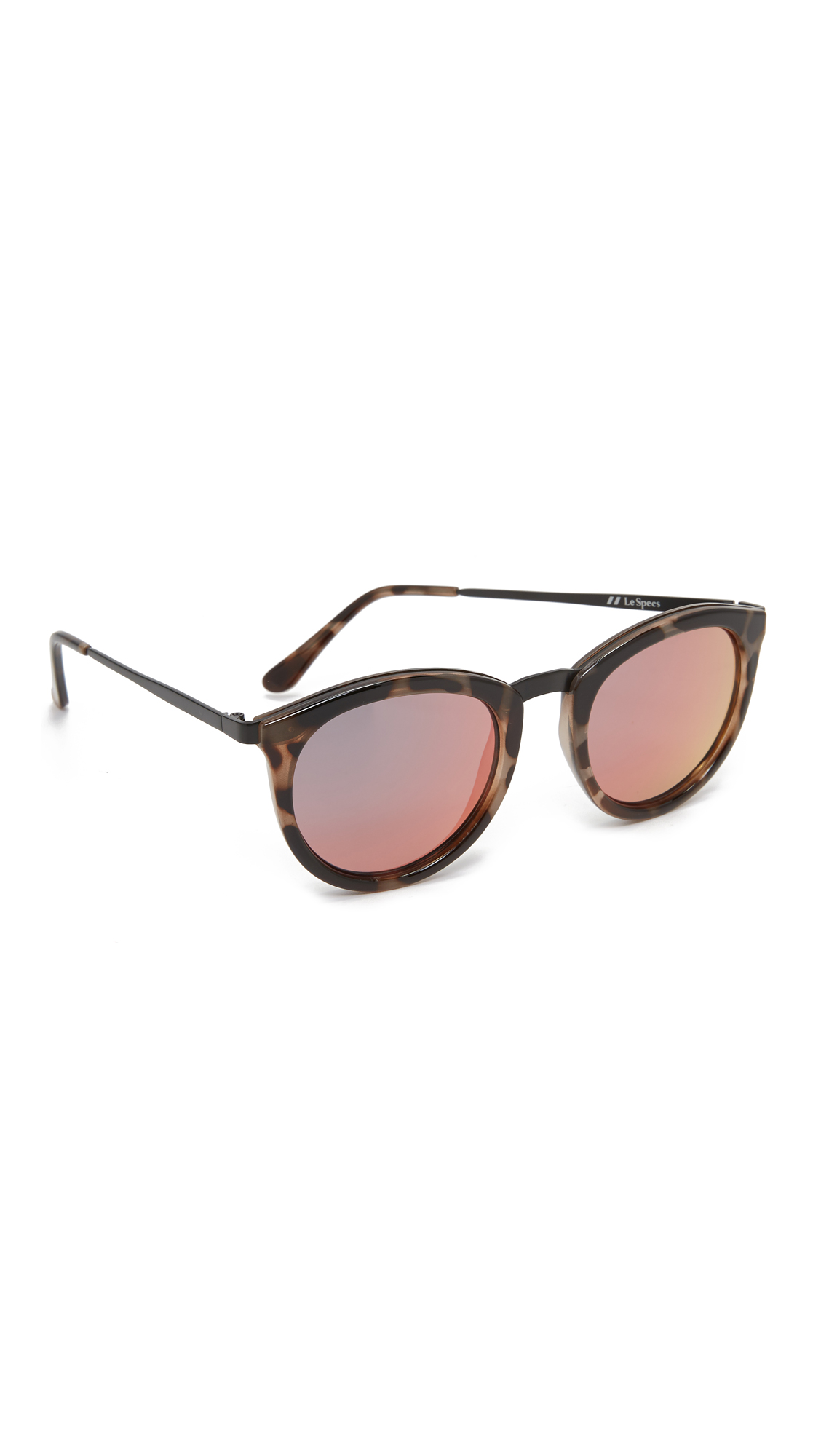 Le Specs No Smirking Sunglasses - Volcanic Tort/Coral Revo